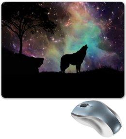"""Коврик для мышки """"Хищный зверь"""" - хищник, животные, снег, природа, волк"""