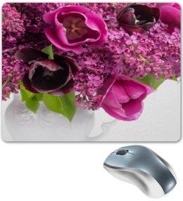 """Коврик для мышки """"Сирень"""" - цветы, тюльпаны, букет, ваза, сирень"""