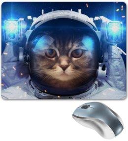 """Коврик для мышки """"Котосмонавт"""" - кот, космос, животное, костюм"""