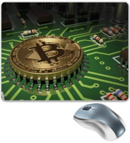 "Коврик для мышки ""Биткойн"" - bitcoin, биткойн, криптовалюта, cryptocurrency"