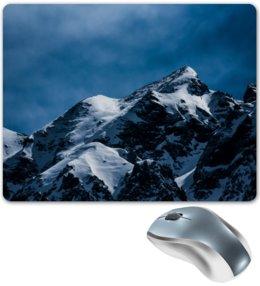 """Коврик для мышки """"Снег в горах"""" - снег, небо, природа, горы, пейзаж"""