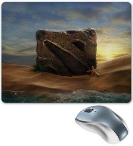 """Коврик для мышки """"Dota 2"""" - море, пляж, dota 2, дота, дота лого"""