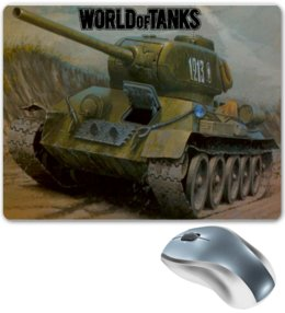 "Коврик для мышки ""World of Tanks"" - games, игры, игра, game, world of tanks, танк, танки, tank, wot, tanks"