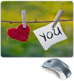"""Коврик для мышки """"I love you"""" - любовь, я тебя люблю"""