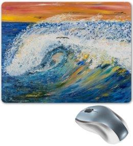 """Коврик для мышки """"Волна"""" - арт, импрессионизм"""