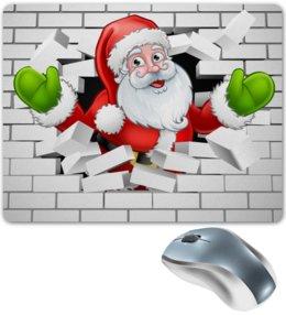 """Коврик для мышки """"Санта Клаус"""" - новый год, санта клаус, 2019"""
