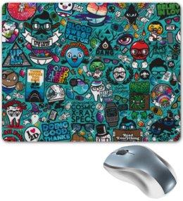 """Коврик для мышки """"Stickers"""" - арт, стиль, рисунок, дизайн, графика"""