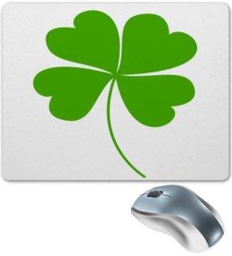 """Коврик для мышки """"Клевер"""" - цветок, клевер, листок, листья, зеленый"""