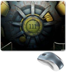 """Коврик для мышки """"Fallout 4, Дверь убежища 111"""" - fallout, vault 111"""