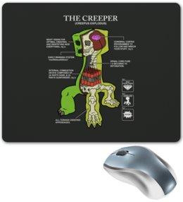 "Коврик для мышки ""Крипер. Майнкрафт"" - minecraft, майнкрафт, creeper, крипер, геймерские"