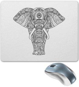 """Коврик для мышки """"Индия"""" - узор, животные, слон, роспись, индия"""