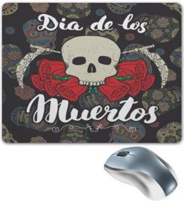 """Коврик для мышки """"Día de Muertos"""" - череп, праздник, цветы, розы, день мертвых"""