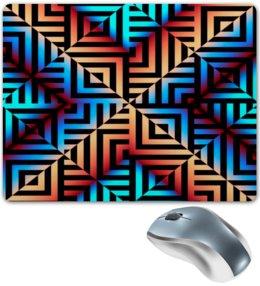 """Коврик для мышки """"Графическая мозаика"""" - квадраты, кубики, узоры, графика, геометрия"""