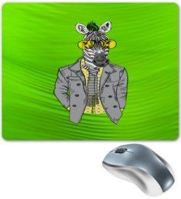 """Коврик для мышки """"Без названия"""" - животные, зебра, очки, природа, конь в пальто"""