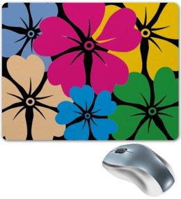 """Коврик для мышки """"цветочки на черном фоне"""" - коврик для мыши, купить"""
