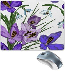 """Коврик для мышки """"Ирис в цвету"""" - цветы, узор, весна, природа, цветочки"""
