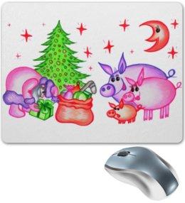 """Коврик для мышки """"Внезапная встреча"""" - сюрприз, подарки, дед мороз, внезапная встреча"""
