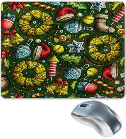 """Коврик для мышки """"Елочные игрушки"""" - праздник, новый год, игрушки, подарки, елка"""