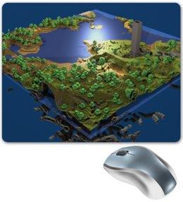 """Коврик для мышки """"Мир Minecraft коврик для мыши"""" - игры, minecraft"""