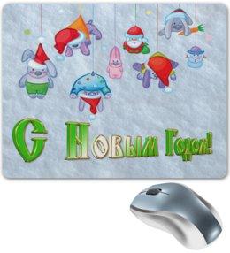 """Коврик для мышки """"Новый год"""" - праздник, новый год, зима, игрушки, с новым годом"""