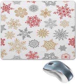 """Коврик для мышки """"Зимние кружева"""" - дед мороз, санта, новый год, снег, праздник"""