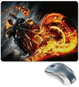 "Коврик для мышки ""Призрачный гонщик"" - комиксы, пламя, марвел, ghost rider"