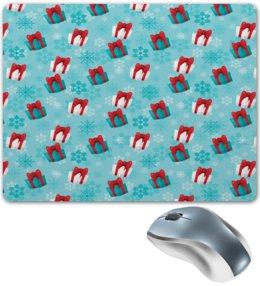 """Коврик для мышки """"Подарки"""" - праздник, новый год, снег, подарки, снежинки"""