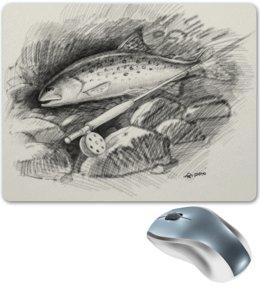"""Коврик для мышки """"Кумжа"""" - рыба, рыбалка, нахлыст, кумжа, рыболов"""