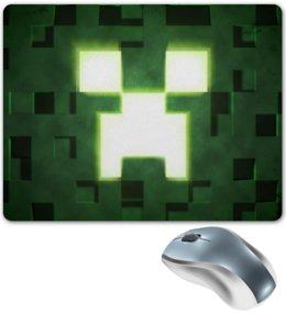 "Коврик для мышки ""Крипер"" - minecraft, крипер"