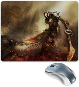 """Коврик для мышки """"Dark souls"""" - арт, огонь, меч, рыцарь, dark souls"""