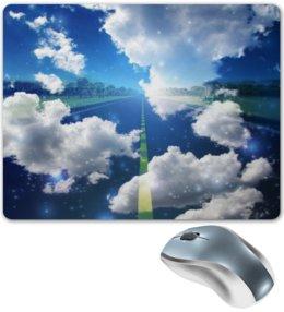 """Коврик для мышки """"облака"""" - дорога, небо, облака, природа, тучи"""