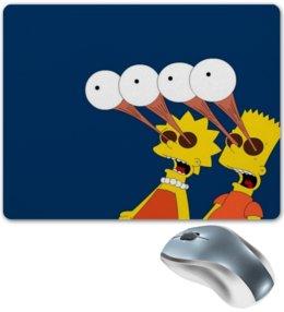 """Коврик для мышки """"симпсоны"""" - лиза и бард симпсоны"""