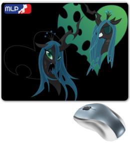 "Коврик для мышки ""dark pony"" - pony, mlp, crizalis"