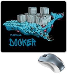 """Коврик для мышки """"Docker"""" - зомби, программирование, программист, developer, docker"""