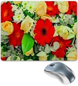 """Коврик для мышки """"Букет цветов"""" - цветы, цветочки, весна, узор, природа"""