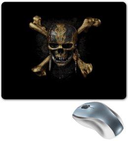 """Коврик для мышки """"Капитан Джек Воробей"""" - skull, пираты карибского моря, капитан джек воробей, pirates of the caribbean, captain jack sparrow"""