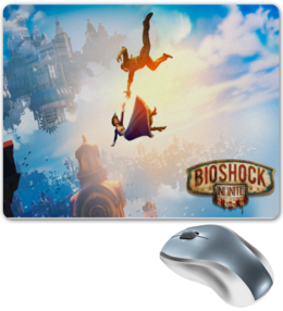 "Коврик для мышки ""Bioshock Infinite"" - games, игры, красота, стимпанк, bioshock, bioshock infinite, infinite, video games, columbia, букер девитт"