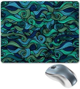 """Коврик для мышки """"Волнистый"""" - арт, узор, волна, орнамент, абстракция"""
