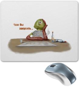 """Коврик для мышки """"Алкаш"""" - арт, юмор, рисунок, прикольные"""