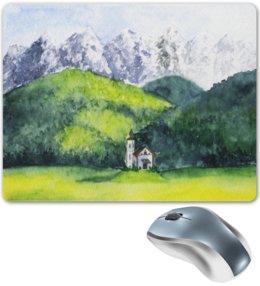 """Коврик для мышки """"Горный пейзаж"""" - арт, рисунок, природа, горы"""