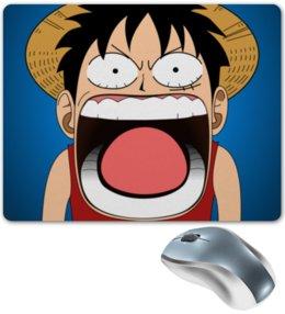 "Коврик для мышки ""Луффи - Чё??!!"" - аниме, шляпа, one piece, луффи, монки ди луффи"
