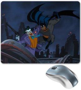 "Коврик для мышки ""Batman/Бэтмен"" - арт, dc comics, batman, джокер, joker"