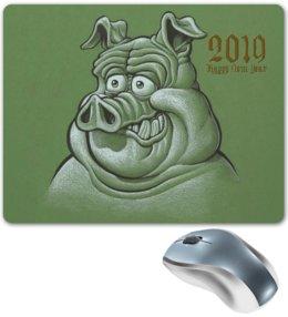 """Коврик для мышки """"Символ 2019 года"""" - новый год, свинка, свинья, хрюшка, поросёнок"""
