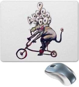 """Коврик для мышки """"Мышь в наколенниках"""" - прикольно, прикол, круто, смешные, приколы, смешное, животные, популярные, мышь, рисунок"""