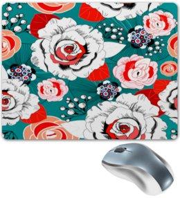 """Коврик для мышки """"Fashion Flower"""" - цветы, flower, природа, красные, розы"""