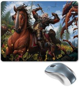 """Коврик для мышки """"Ведьмак"""" - rpg, конь, ведьмак, the witcher"""