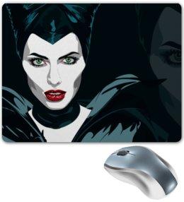 """Коврик для мышки """"Maleficent (Анджелина Джоли)"""" - кино, сказка, анджелина джоли, малефисента, снежная королева"""