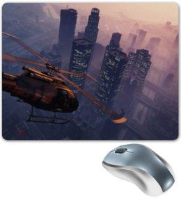 """Коврик для мышки """"Grand Theft Auto V"""" - город, закат, city, gta 5, grand theft auto v"""
