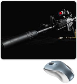 "Коврик для мышки ""Винтовка"" - винтовка, на 23 февраля, к 23 февраля"