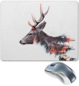 """Коврик для мышки """"Олень"""" - животные, природа, олень, олени, рога"""
